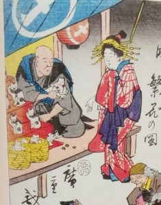 招き猫の起源は江戸時代